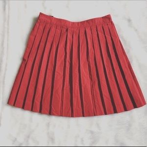 Urban Outfitters Skirts - BDG, Urban Outfitters Red Pleated Buckle Skirt